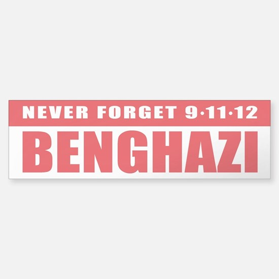Benghazi Bumper Car Car Sticker