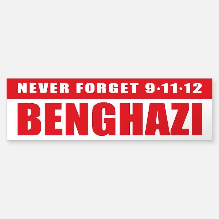 Benghazi Bumper Car Car Sticker