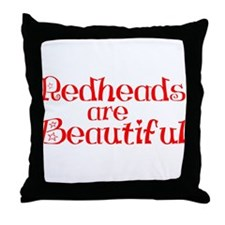 Redheads Are Beautiful Throw Pillow