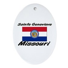 Sainte Genevieve Missouri Oval Ornament