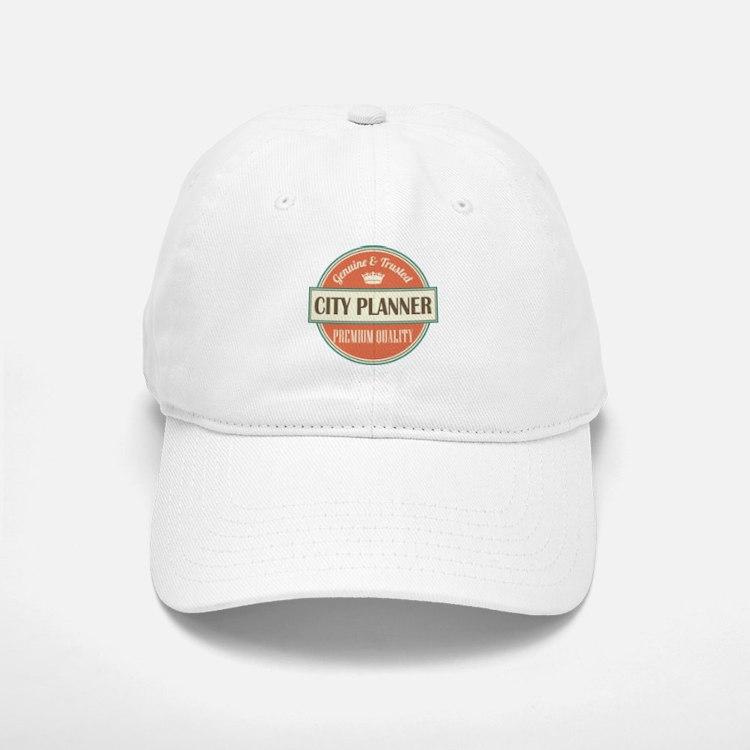 city planner vintage logo Baseball Baseball Cap
