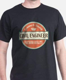 civil engineer vintage logo T-Shirt