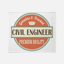 civil engineer vintage logo Throw Blanket