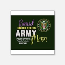 Proud Army Mom Seal Green Sticker