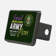 Proud Army Mom Seal Green Hitch Cover