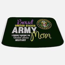 Proud Army Mom Seal Green Bathmat