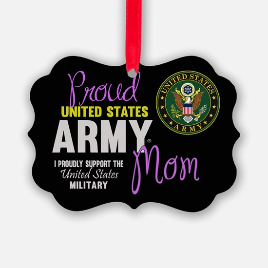 Army Mom Pink Seal Ornament