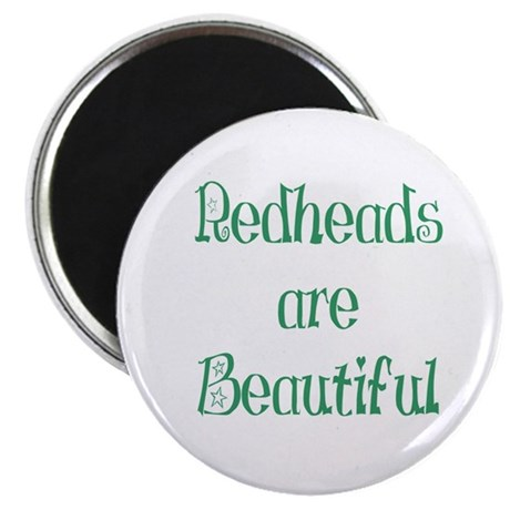 "Redheads Are Beautiful 2.25"" Magnet (10 pack)"