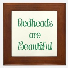 Redheads Are Beautiful Framed Tile