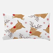 Cute Reindeer Holiday Pattern Pillow Case