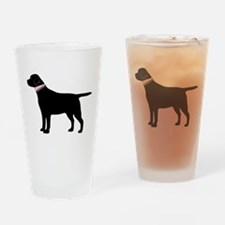 Preppy Black Lab Drinking Glass