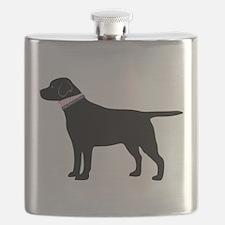 Preppy Black Lab Flask