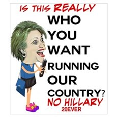 ANTI Hillary on Cell Phone Poster