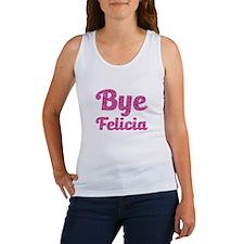 Bye Felicia Funny Pink Glitter Tank Top