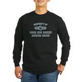 Mens golden border collie black Long Sleeve T-shirts (Dark)