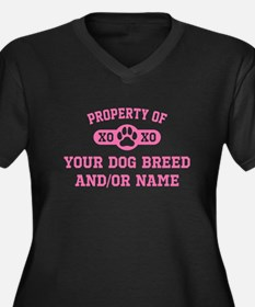 Pink Property of [Your Dog Breed] Plus Size T-Shir