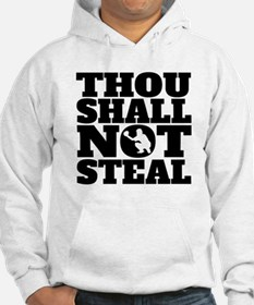 Thou Shall Not Steal Baseball Catcher Hoodie