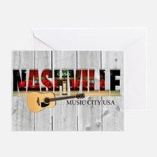 Nashville Music City-LS Greeting Card