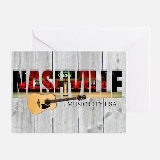 Nashville Music City-LS Greeting Card