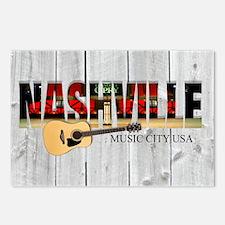 Nashville Music City-LS Postcards (Package of 8)