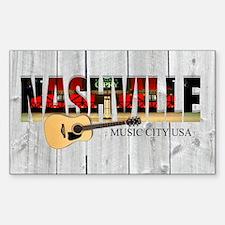 Nashville Music City-LS Sticker (Rectangle)