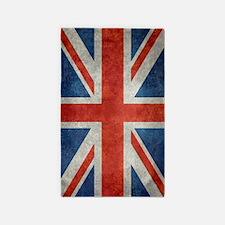 UK British Union Jack flag retro style  p Area Rug