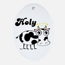 HOLY COW Oval Ornament