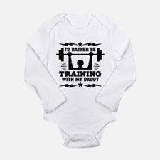I'd Rather Be Training Long Sleeve Infant Bodysuit