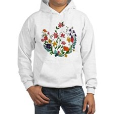 Embroidered Spring Flowers Hoodie