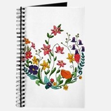 Embroidered Spring Flowers Journal