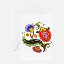 Crewel Embroidery Greeting Card