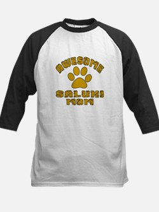 Awesome Saluki Mom Dog Design Kids Baseball Jersey