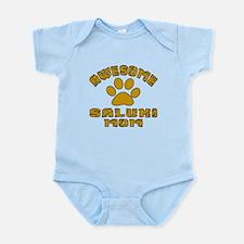Awesome Saluki Mom Dog Designs Infant Bodysuit