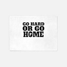 Go Hard Or Go Home Skateboarding 5'x7'Area Rug