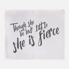 She is Fierce Throw Blanket