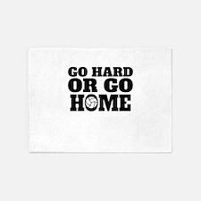 Go Hard Or Go Home Volleyball 5'x7'Area Rug