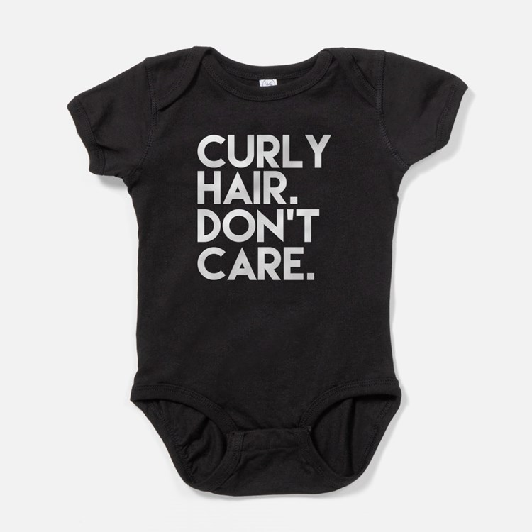 Curly Hair Don't Care funny Baby Bodysuit