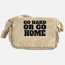 Go Hard Or Go Home Javelin Throw Messenger Bag