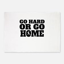 Go Hard Or Go Home Javelin Throw 5'x7'Area Rug