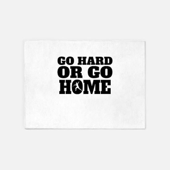 Go Hard Or Go Home Javelin Throw 5'x7'Area Rug