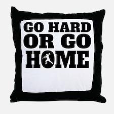 Go Hard Or Go Home Javelin Throw Throw Pillow