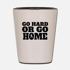 Go Hard Or Go Home Javelin Throw Shot Glass
