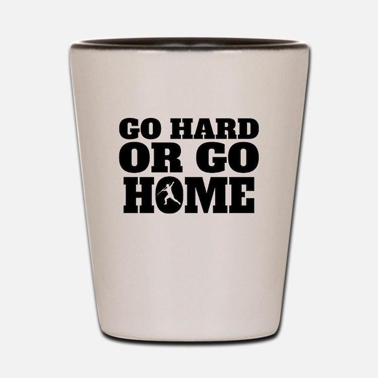 Go Hard Or Go Home Javelin Throw Shot Glass