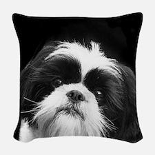 Shih Tzu Dog Woven Throw Pillow