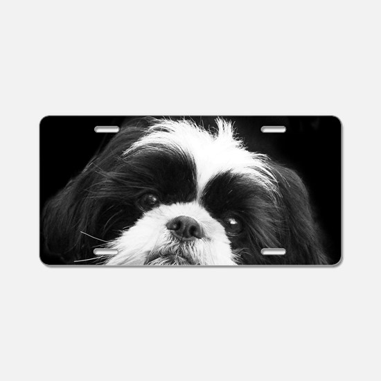 Shih Tzu Dog Aluminum License Plate