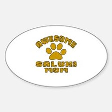 Awesome Saluki Mom Dog Designs Decal