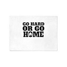 Go Hard Or Go Home Hockey 5'x7'Area Rug