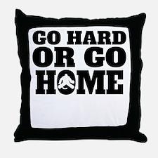 Go Hard Or Go Home Hockey Throw Pillow