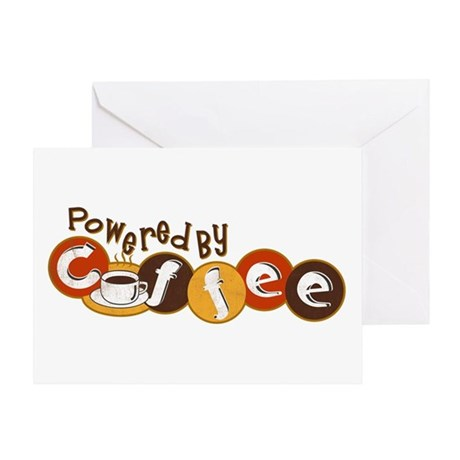 Powered By Coffee Greeting Card