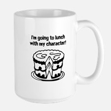 Going To Lunch With My Character - cake Mugs
